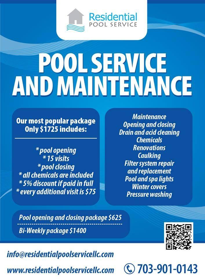 Residential Pool Service Pool Opening Pool Maintenance Great Falls Va Pool Service Residential Pool Pool Maintenance