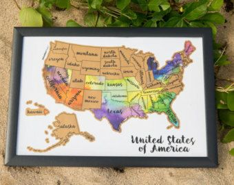 Free shipping united states of america us watercolor by kuulys