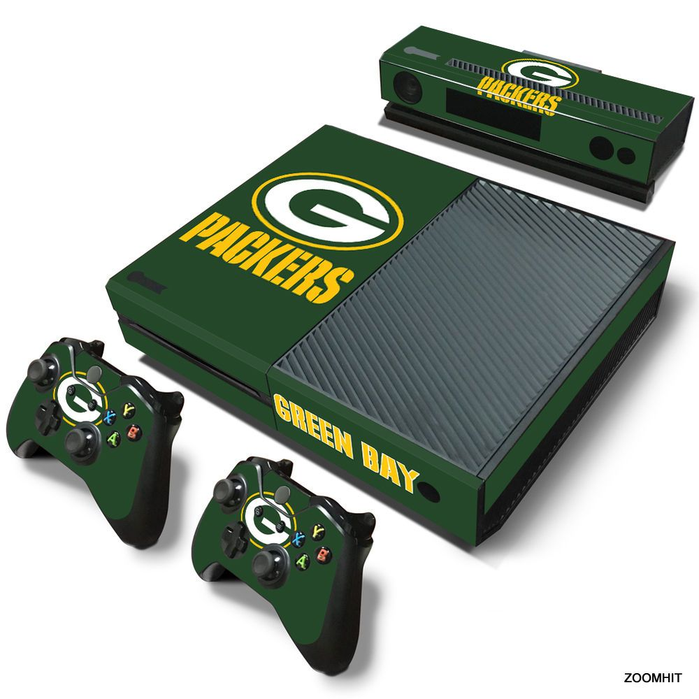 Xbox One Console Skin Decal Sticker Green Bay Packers 2 Controller Skins Set Xbox One Skin Deadpool Xbox One Xbox One Controller