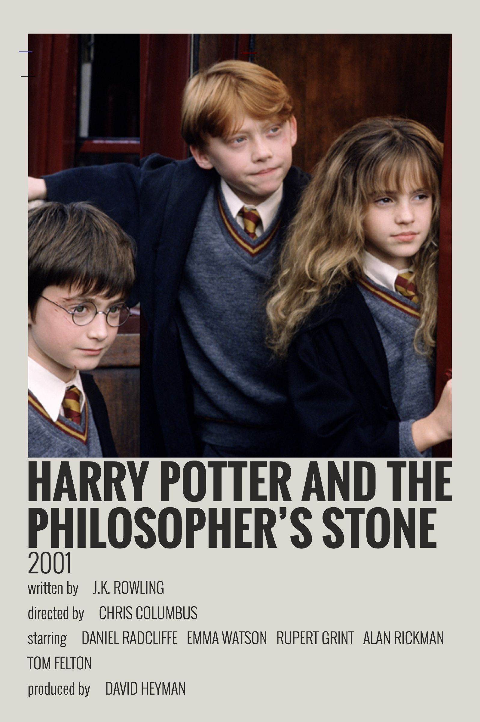 Alternative Minimalist Movie Show Polaroid Poster Harry Potter And The Philosophers Stone Film Posters Minimalist Indie Movie Posters Movie Posters Minimalist