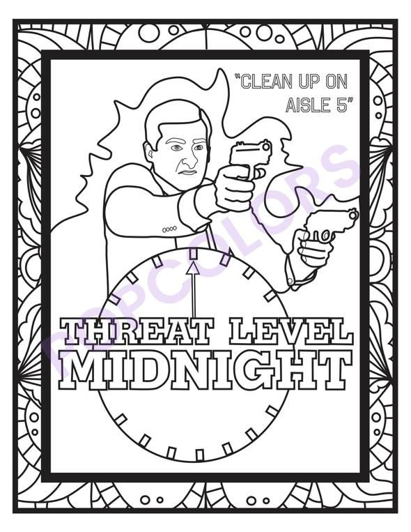 The Office Coloring Pages 5pck Coloring Pages Office Colors Descendants Coloring Pages