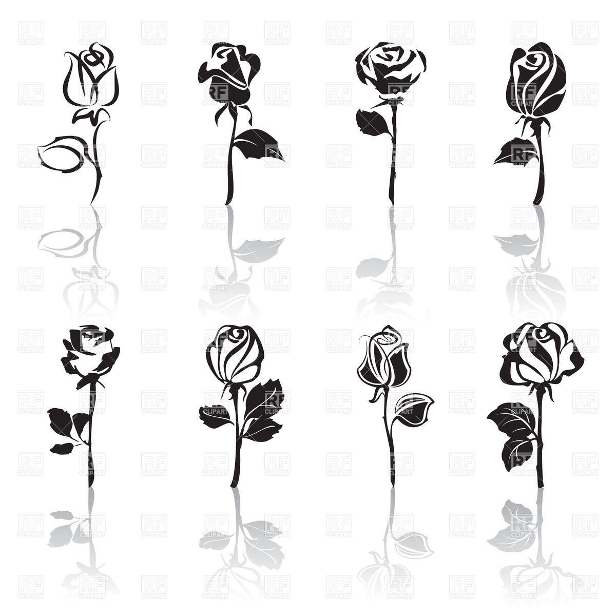 stylized rose - Hledat Googlem | Doodles / Čmáranice ...