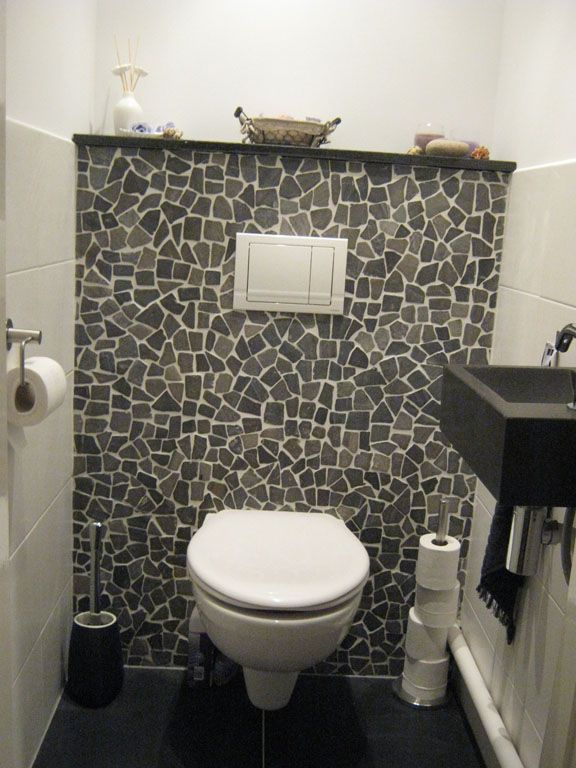 Toilet met natuurlijke uitstraling huis overig pinterest toilet downstairs bathroom and for Decoratie wc
