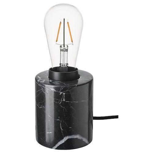 MARKFROST ROLLSBO Pendant lamp with light bulb marble
