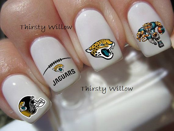 Jacksonville Jaguars Nail Decals By Thirstywillow On Etsy