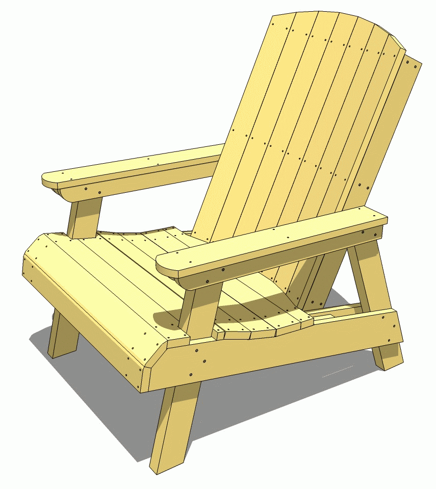 Outdoor furniture plans - Lawn Chair Plans Tons Of Wood Working Plans