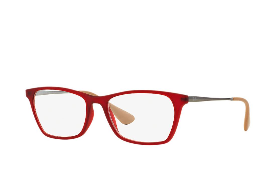 Armacao De Oculos Ray Ban Rb7053l Vermelho Oculos Ray Ban
