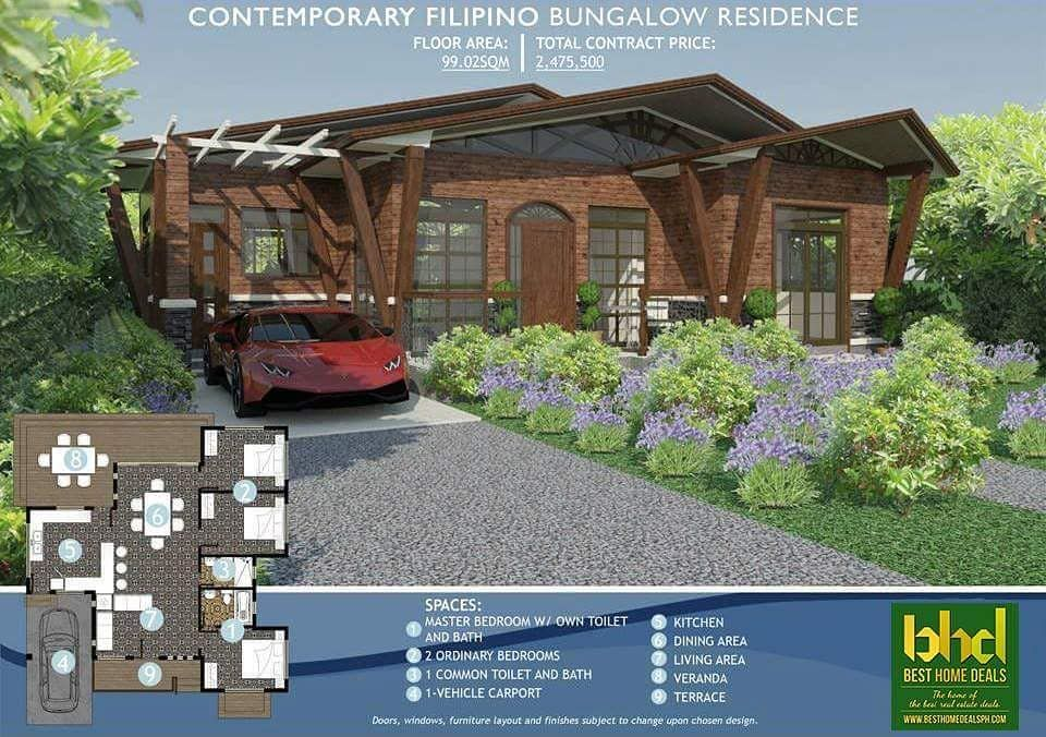 CONTEMPORARY FILIPINO BUNGALOW RESIDENCE Floor Area 9902sqm TCP