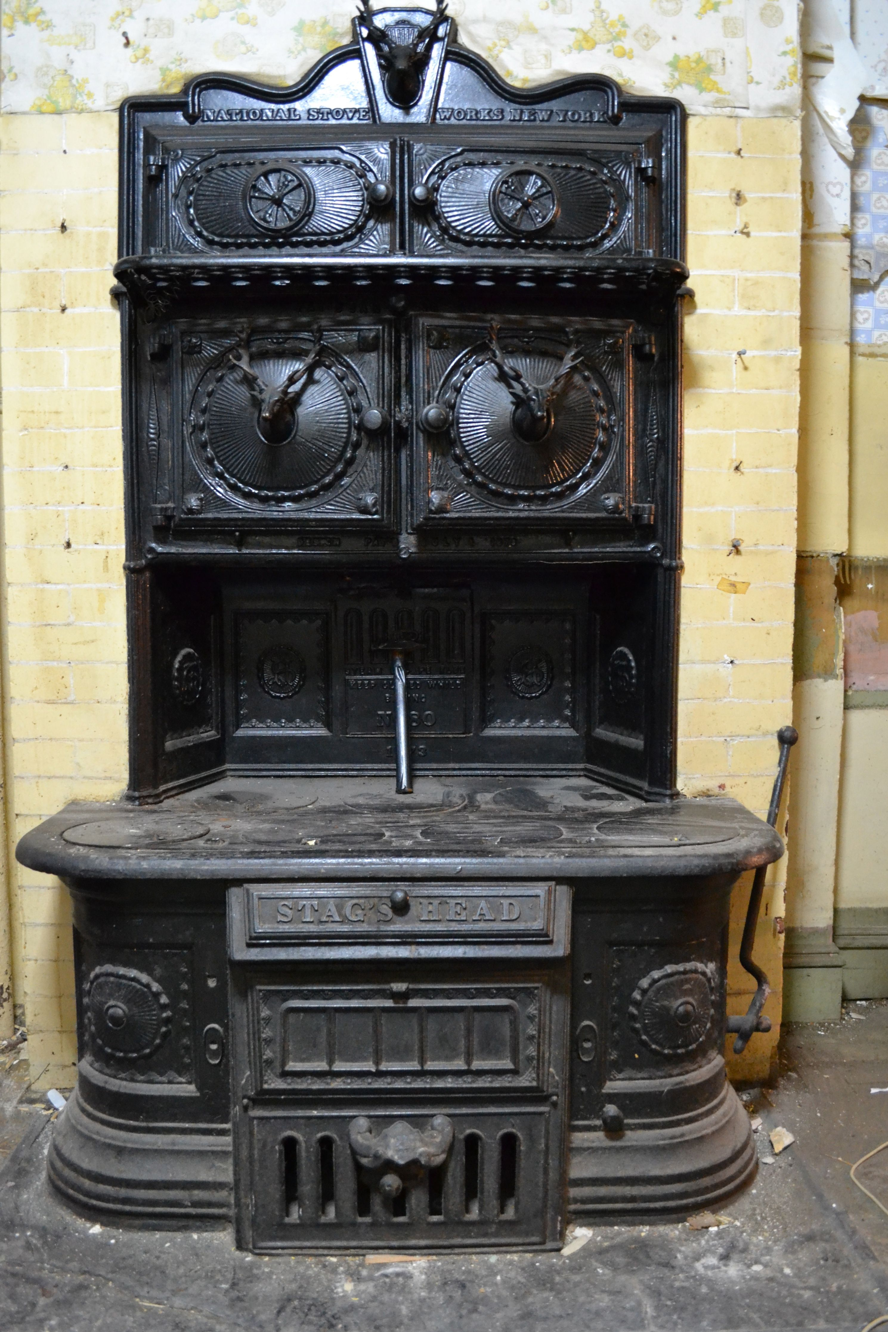 Vintage Stag S Head Cook Stove From National Stove Works