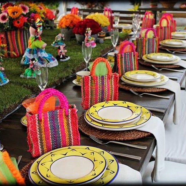 Fiesta mexicana detalles decoraci n mobiliario centros - Adornos mesa de centro ...