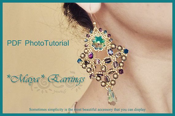 Photo Tutorial ENG-Ita ,DIY earrings,*Maya* earrings ,PDF