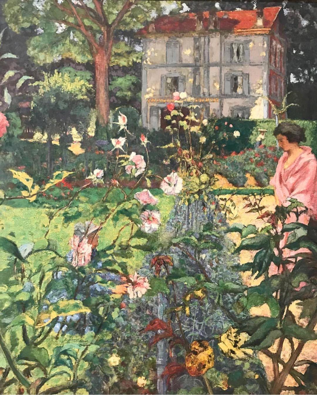 Garden At Vaucresson By Edouard Vuillard 1920 Distemper On Canvas Painting Painter Garden House Art Artist Edouard Vuillard Fine Art Posters Art Prints