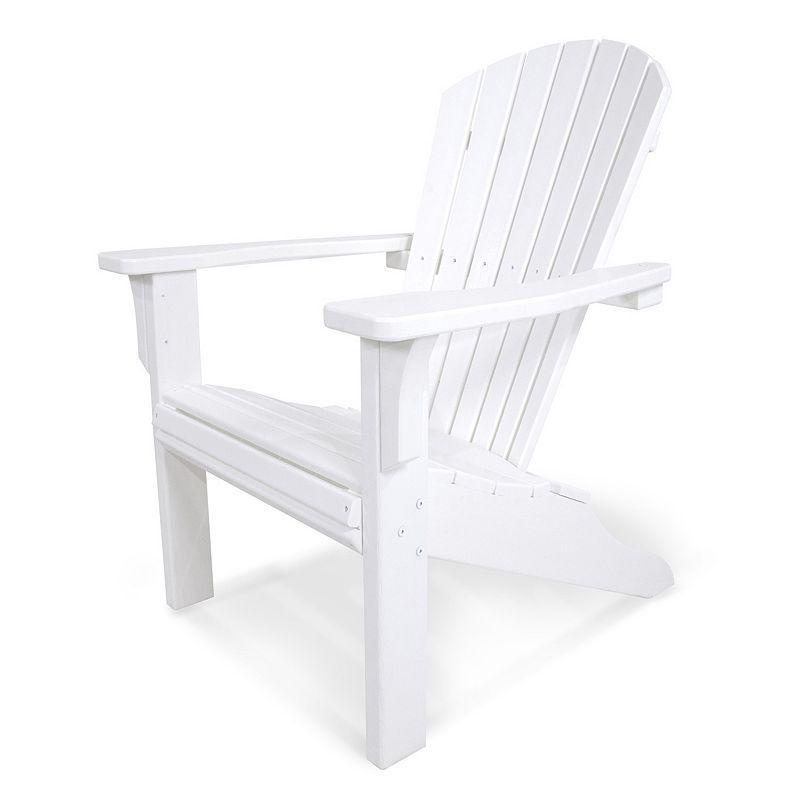 Polywood® Seashell Outdoor Adirondack Chair, White