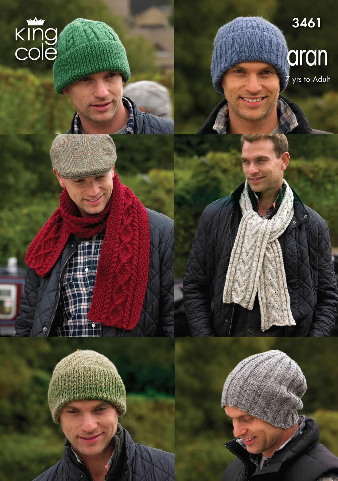 Knitted mens hats and scarves - King Cole  585eaf3842b