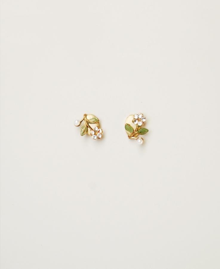Bridal Floral Earrings Elibre Handmade Small Earrings Gold Gold Earrings Studs Gold Jewelry Fashion