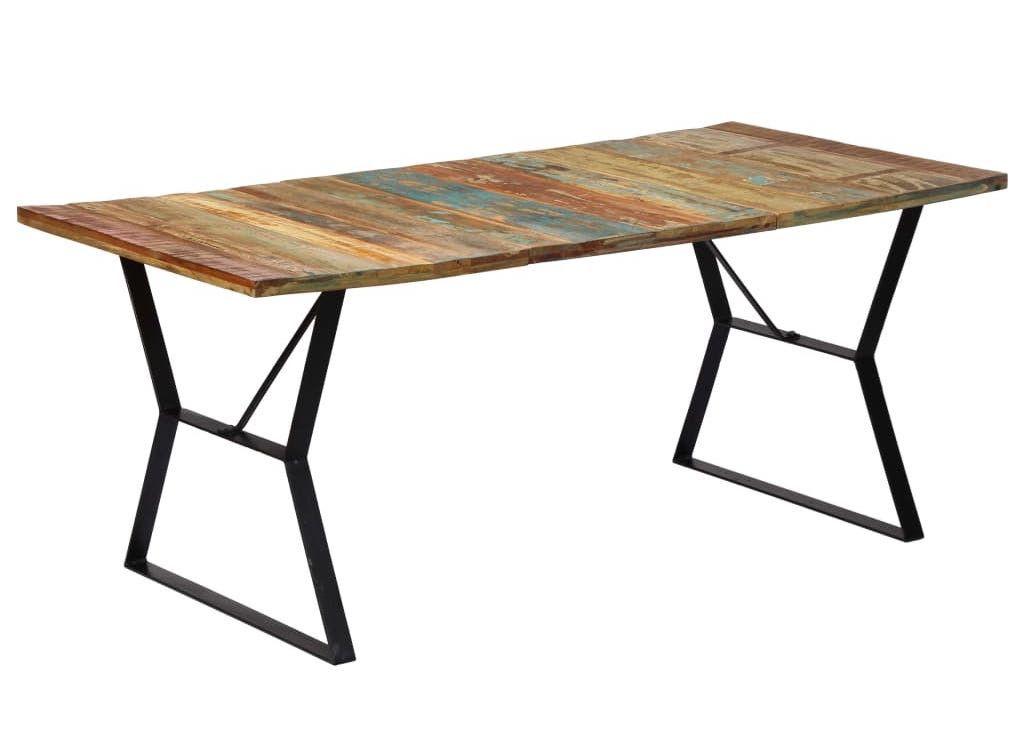 Table à manger vintage bois recyclé Zingo 140 cm