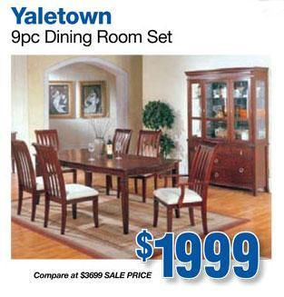 Yaletown 9pc Dining Room Set Great Dinning For Sale At Standard Furniture Group