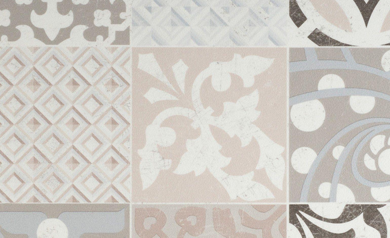 sol vinyle texline carreau ciment beige et marron. Black Bedroom Furniture Sets. Home Design Ideas