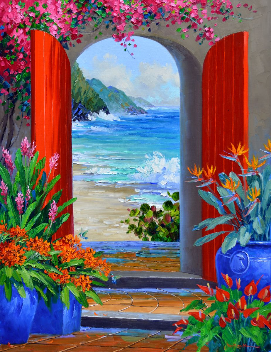 Mikki Senkarik | Pinturas, Pintura de praia, Pinturas ...