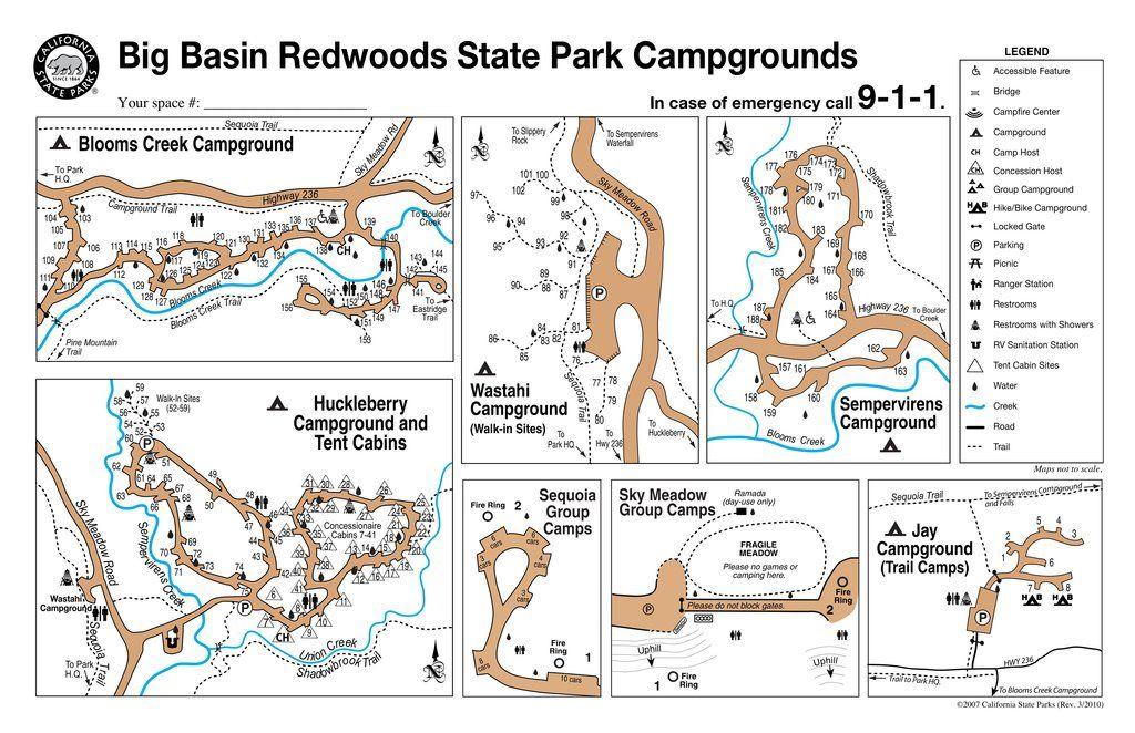 Big Basin Redwoods State Park - Maplets   Let\'s Go Camping ...
