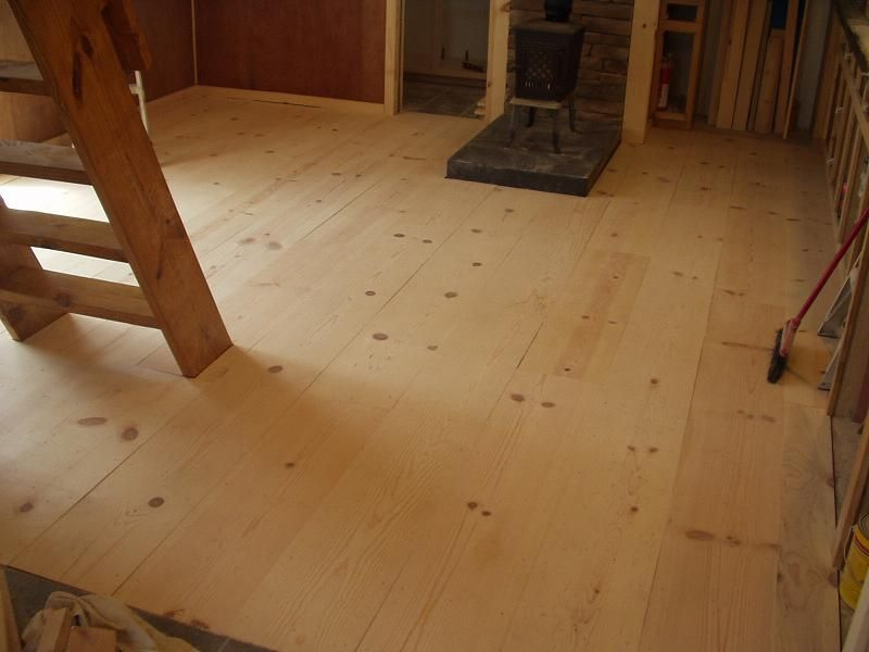 considering a cheap rustic wood floor white pine 1x12 On economical flooring ideas