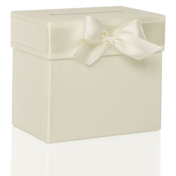 sammelbox mit schleife - ivory - sweetwedding - hochzeitskarten, Einladungsentwurf