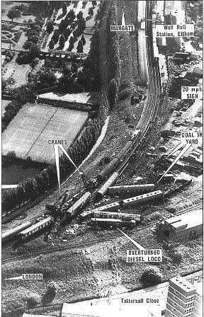 Well Hall Rail Crash Train Crash Margate Aerial Photo