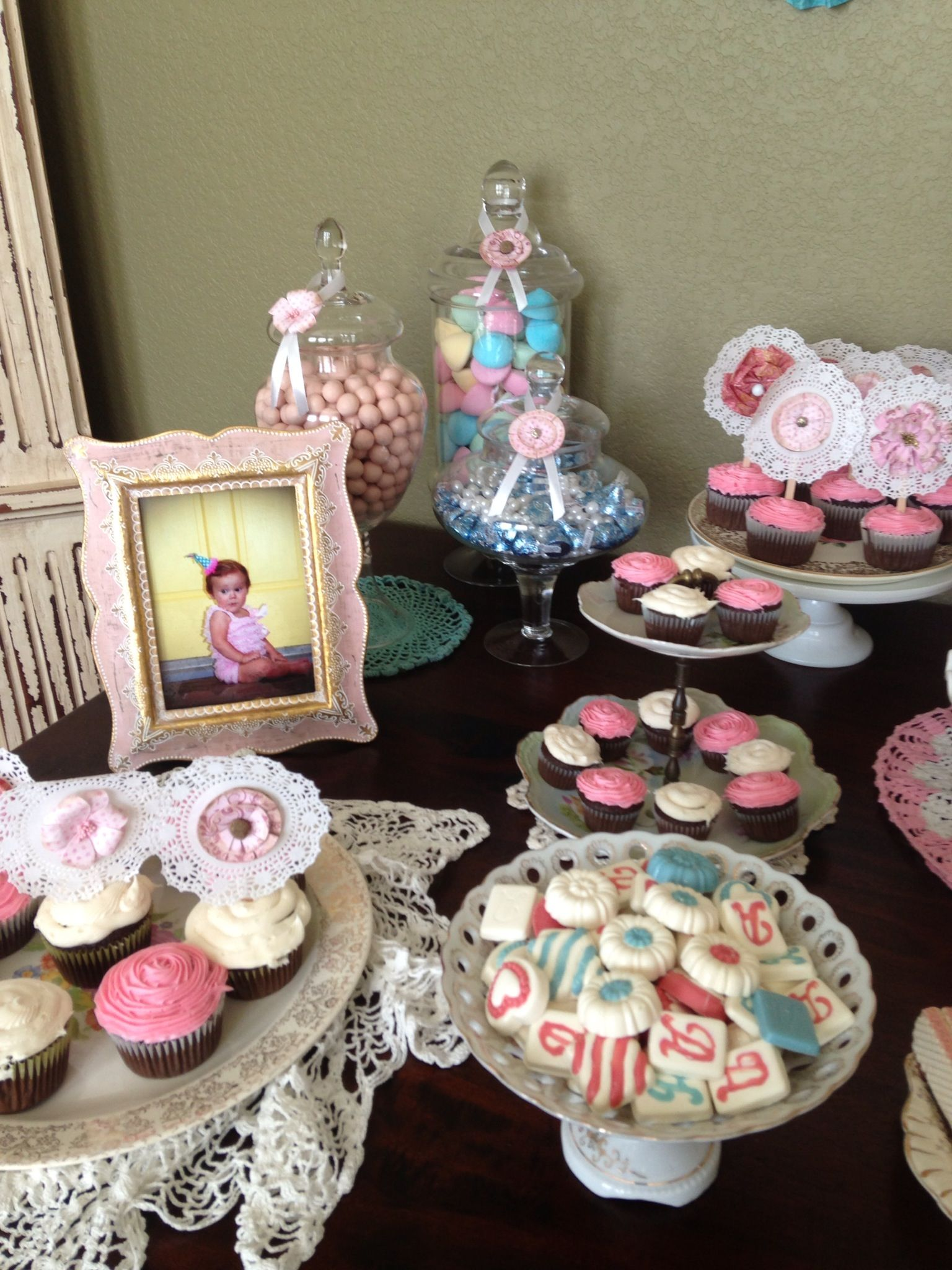 Shabby Chic Birthday Decorations Dessert Table