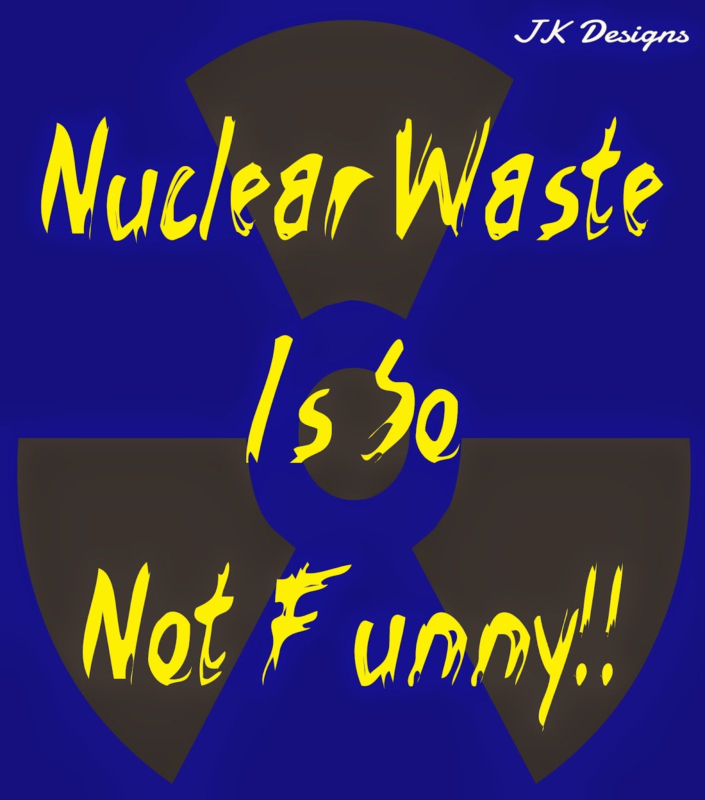 Mijn T-shirt-prints: Nuclear Waste Is So Not Funny!
