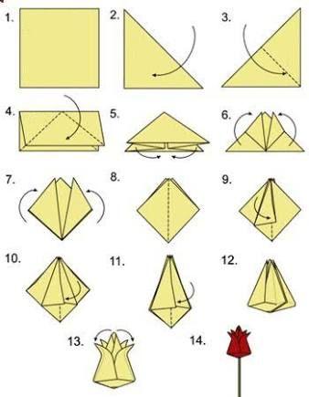 Flower bud easy origami flowers pinterest easy flower bud easy origami mightylinksfo