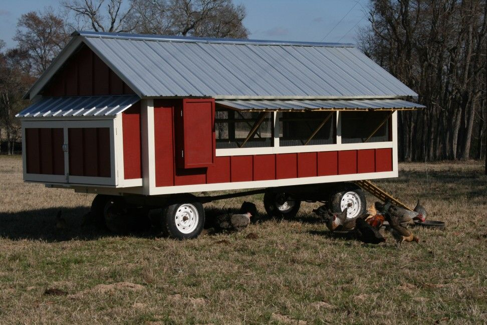Mobile Chicken Coop On Wheels Pinteres