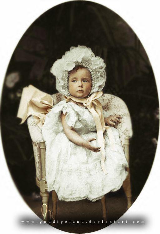Grand Duchess Tatiana Nikolaevna Romanova of Russia (1897-1918) as a baby.