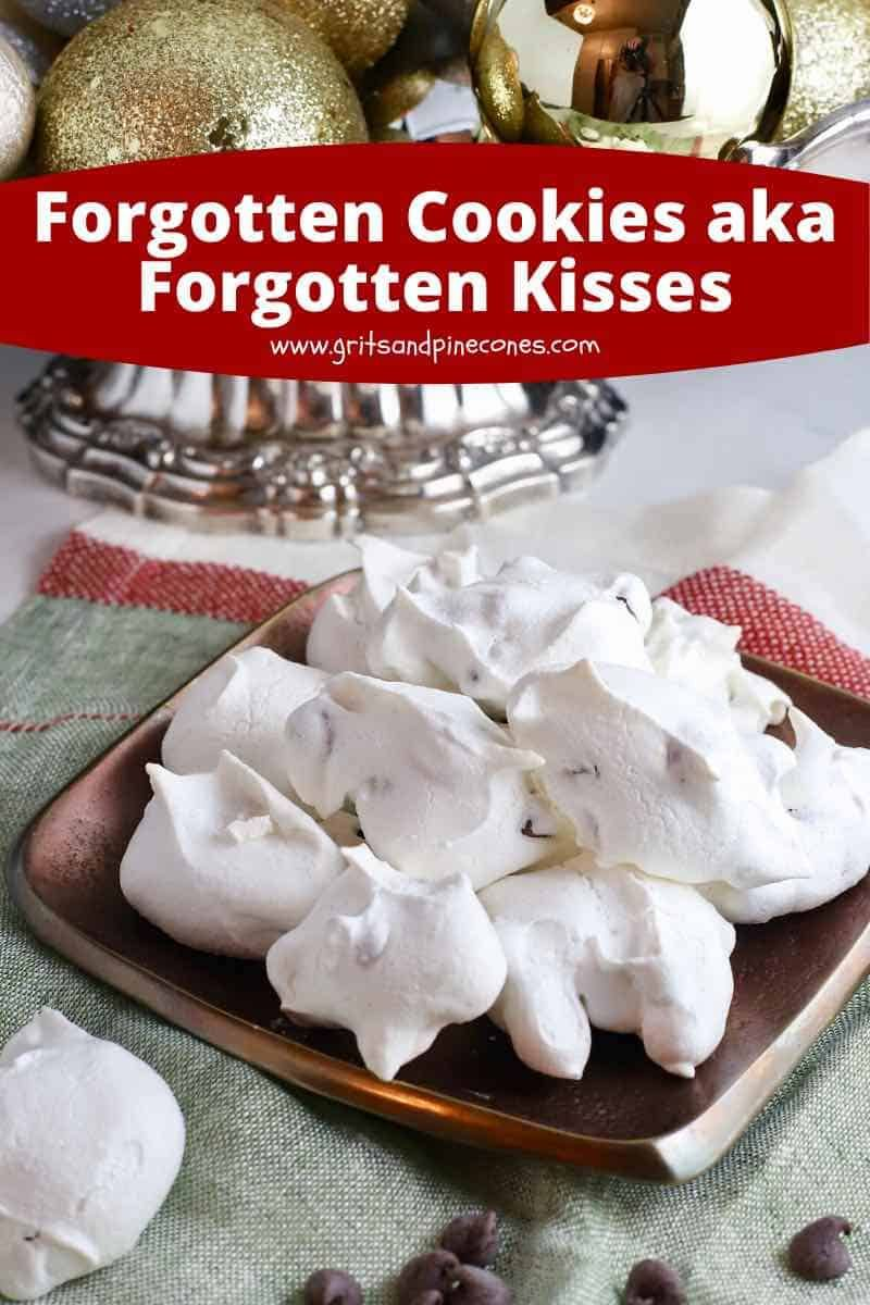 Chocolate Chip Meringue Cookies (Forgotten Kisses) #forgottencookies