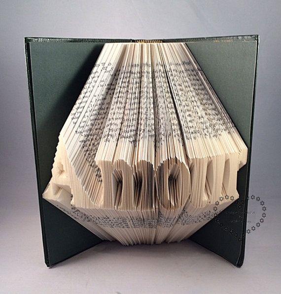 Fabuleux FOLDED BOOK ART--Book Sculpure-Paper-Gift-Word art-Ornament-Decor  YC29