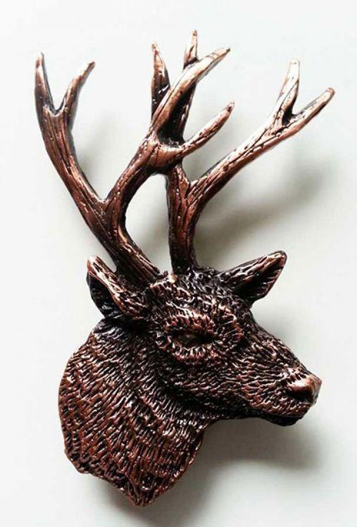 Mule Deer Bust - Large Copper Lapel Pin