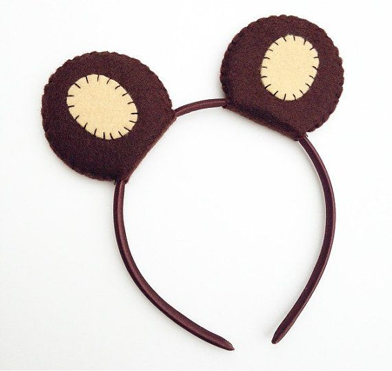 Wool Felt Bear Ears Headband By Thethreadhouse On Etsy Teddy Bears