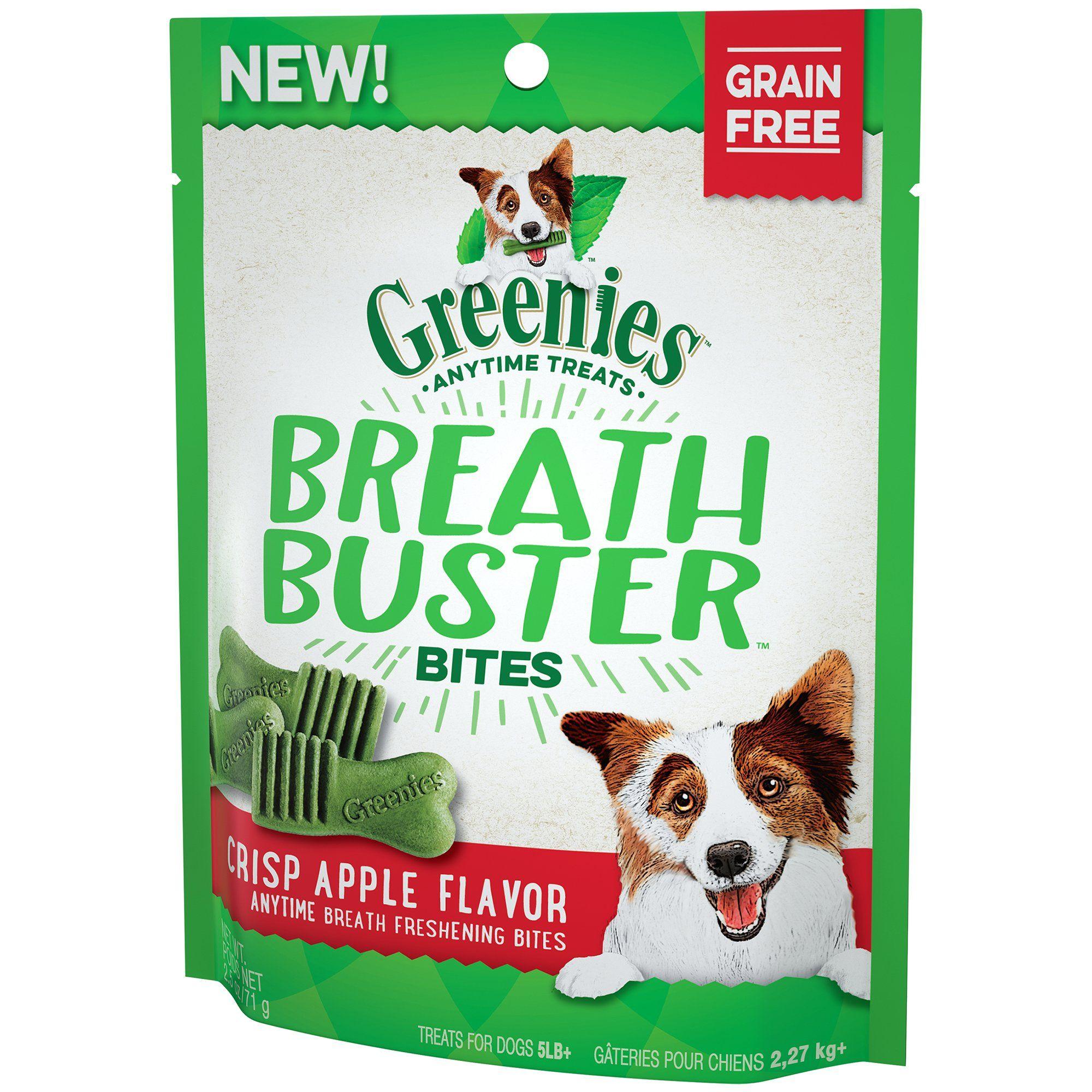 Greenies BREATH BUSTER Bites Crisp Apple Flavor Treats for