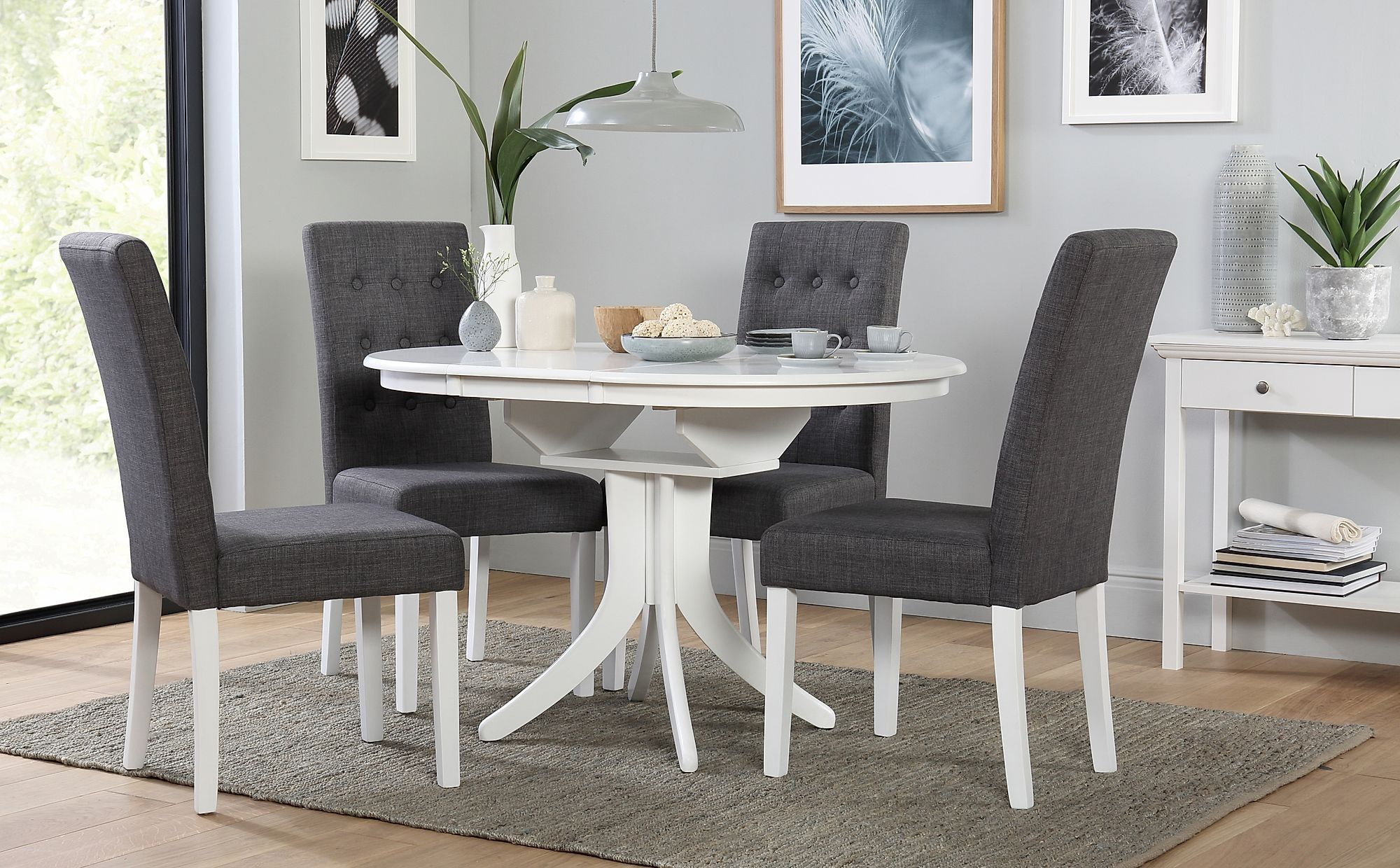 Stunning White Extending Dining Table Round Dining Room Dining Room Design Wood Dining Room Table