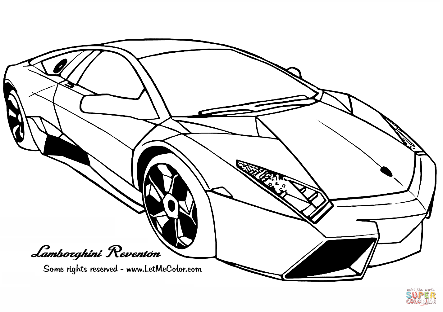 Lamborghini Reventon Super Coloring In 2020 Cars Coloring Pages Car Colors Coloring Pages