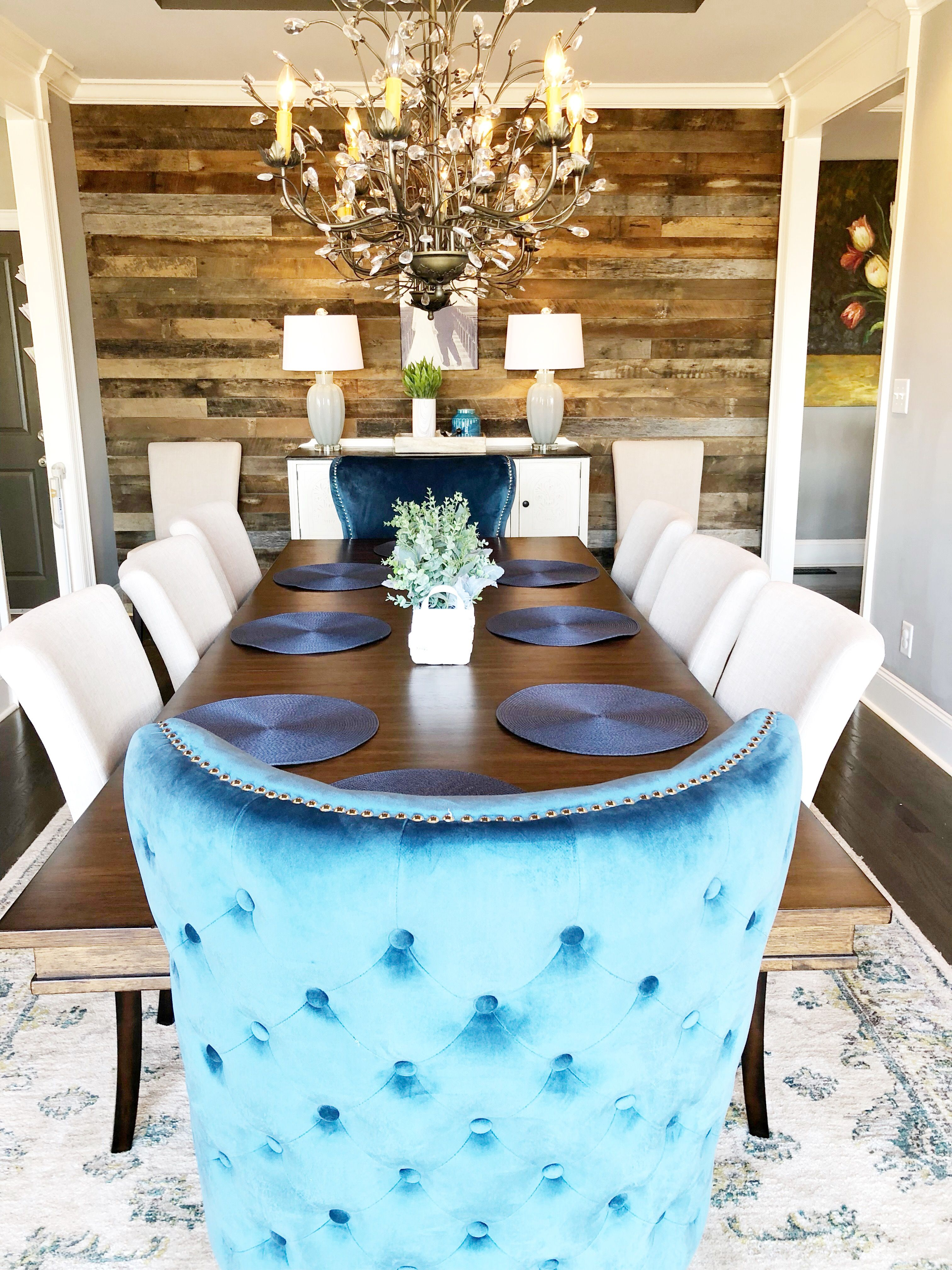 Lura Turistheim Smørbrød Blue Dining Room Chairs