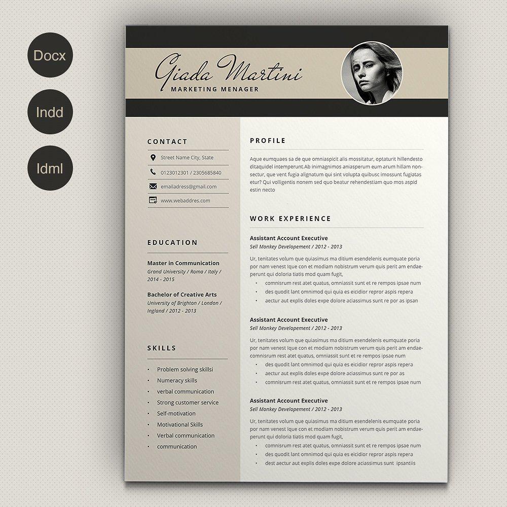 Resume Giada Cover Letter For Resume Cv Template Word Resume