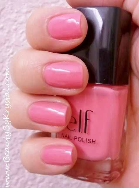 ELF Bubble Gum Pink http://www.beautybykrystal.com/2011/09/nail-of-day-notd-91311.html