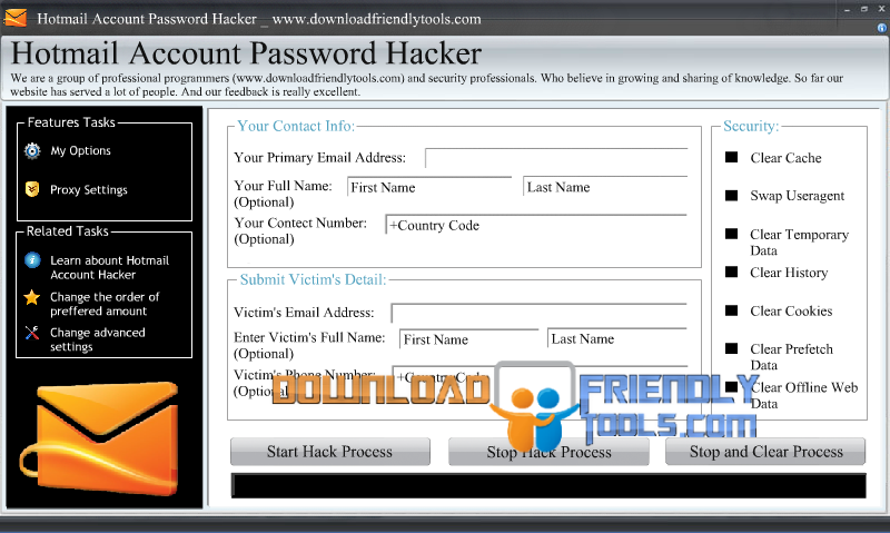 hotmail password hacker v2.8.9 activation code
