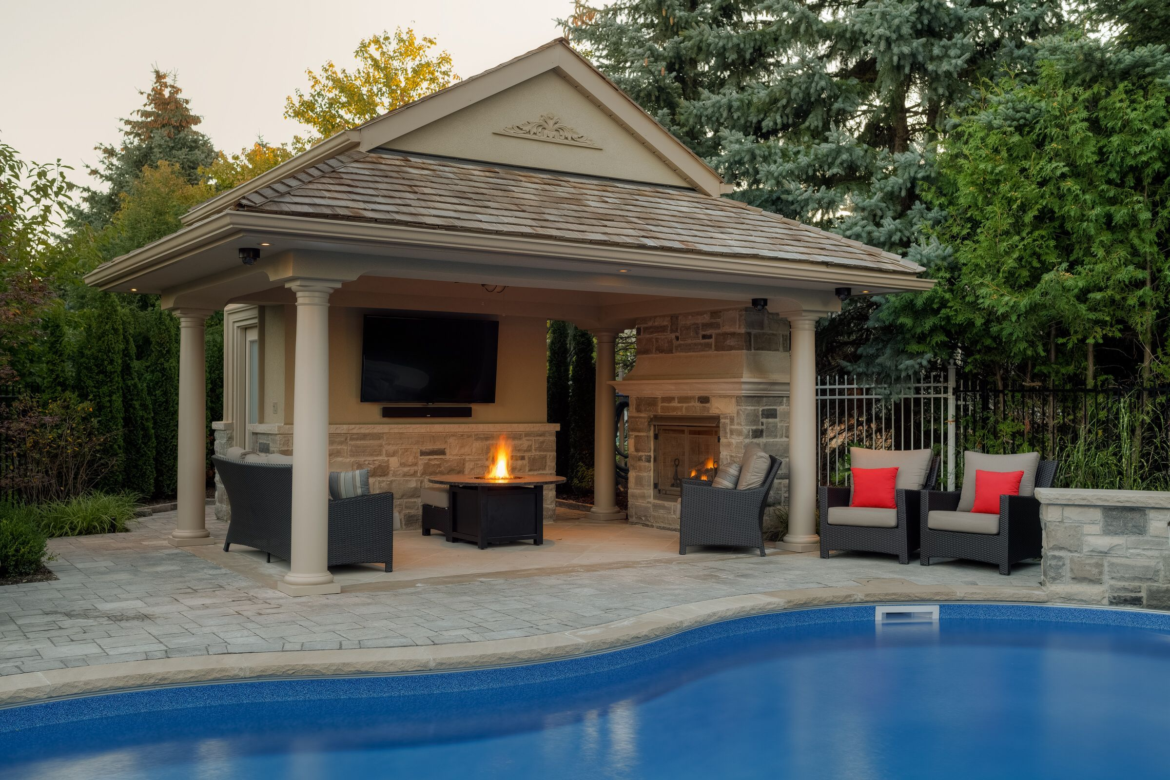 13 Clever Designs Of How To Make Backyard Pool House Ideas Pool House Designs Pool Gazebo Pool House Plans