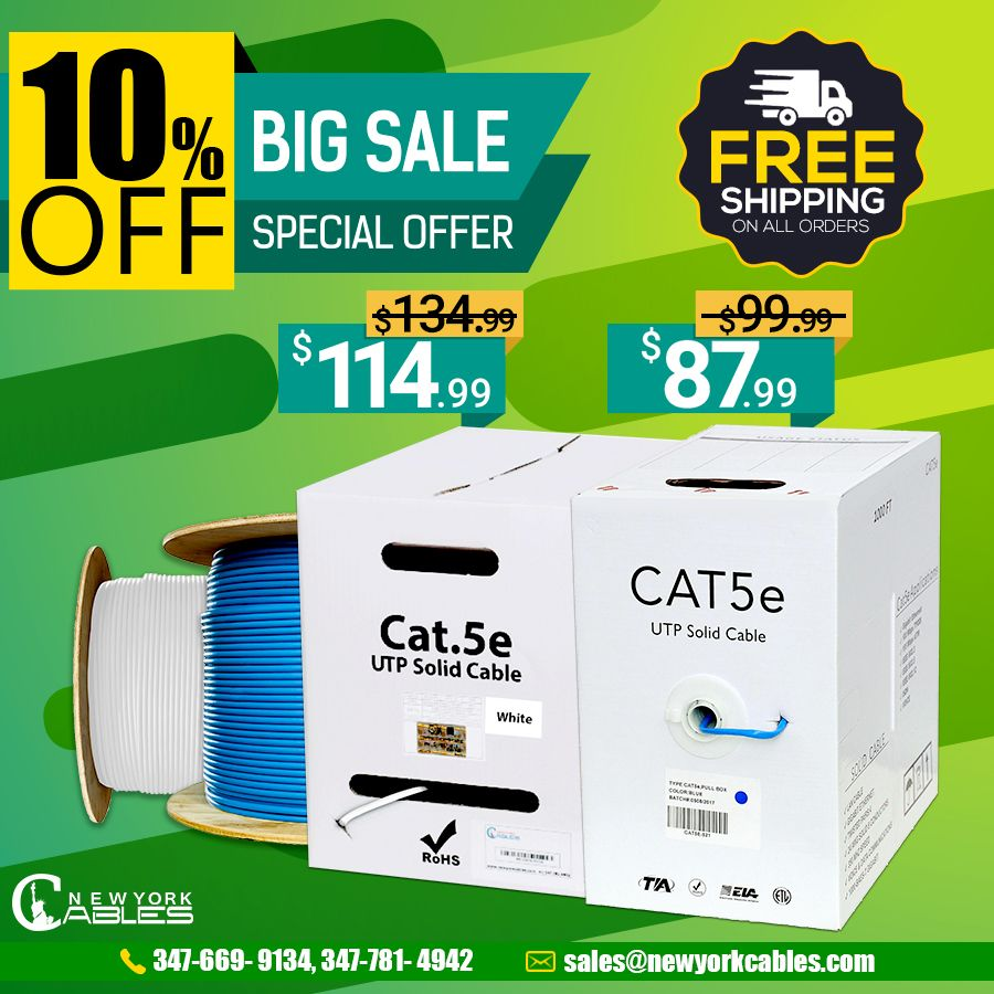we are running a special promotion on Cat5e Gear up for