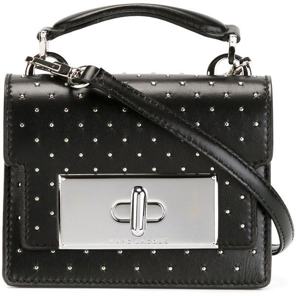 Marc Jacobs Mini Bag Mischief With Studs (88.910 RUB) ❤ liked on Polyvore featuring bags, handbags, shoulder bags, black, studded handbags, mini handbags, marc jacobs purse, marc jacobs handbags and crossbody shoulder bags