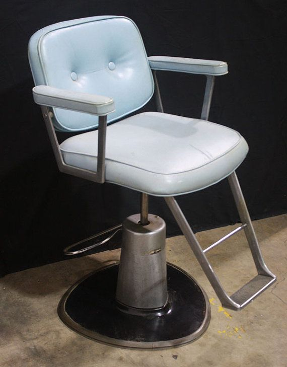 Vintage Blue Belvedere Barber Hair Salon Chair - Vintage Blue Belvedere Barber Hair Salon Chair The Studio