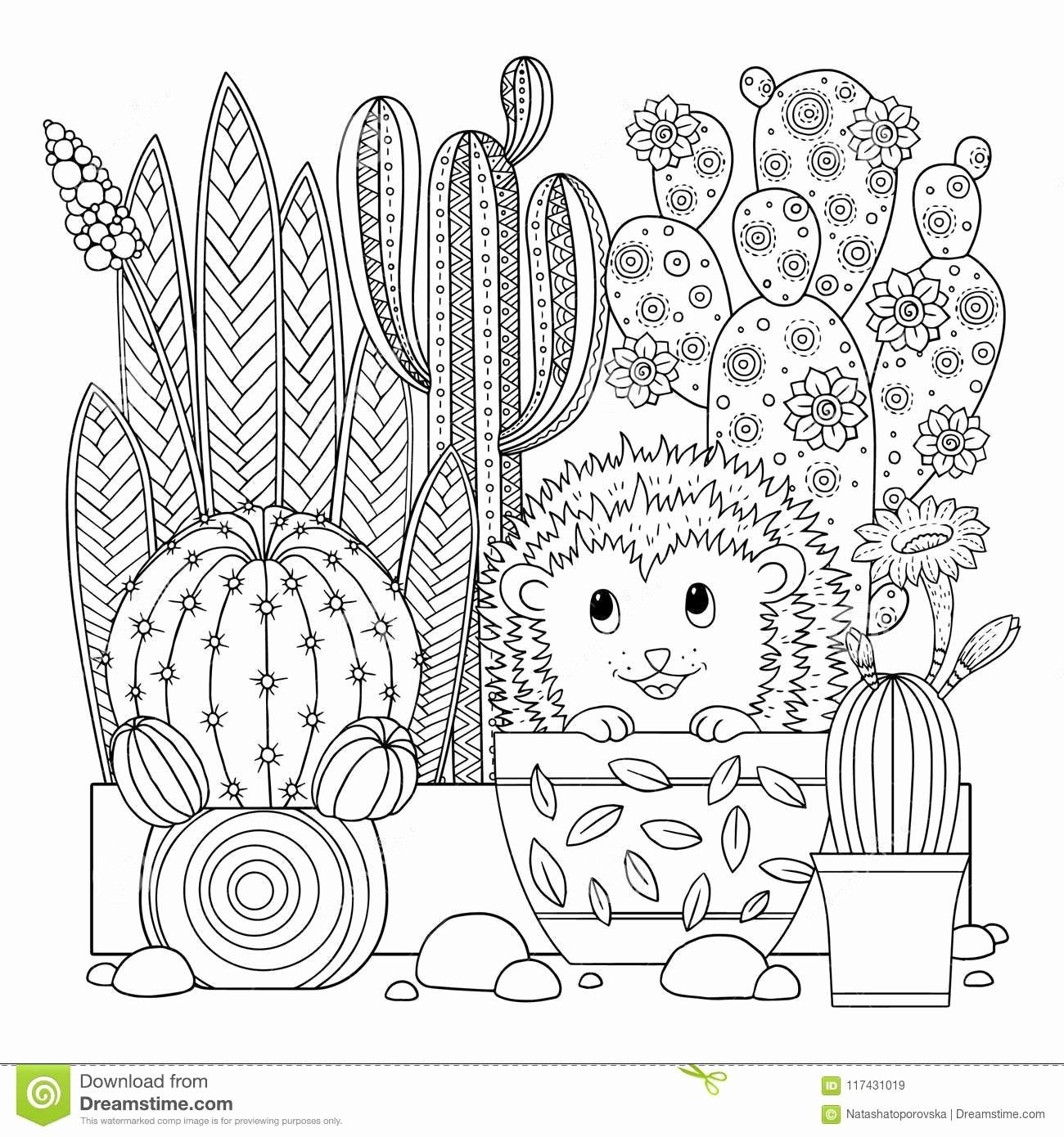 Cute Cactus Coloring Page Luxury Vector Coloring Page Linear Image White Background Coloring Pages Coloring Books Precious Moments Coloring Pages