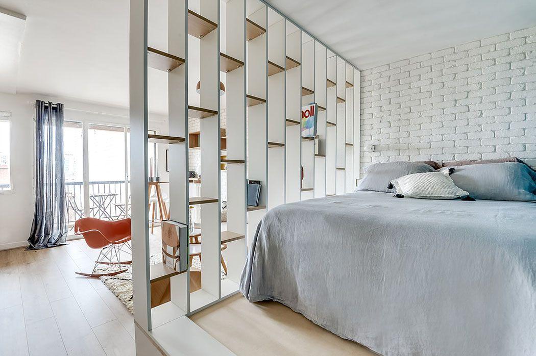 Восхитительная парижская квартира площадью всего 25 метров ...