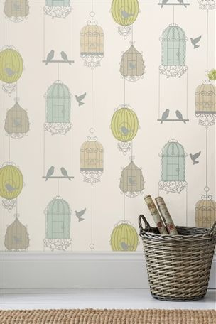 Buy Multi Birdcage Wallpaper From The Next Uk Online Shop Birdcage Wallpaper Striped Wallpaper Floral Wallpaper